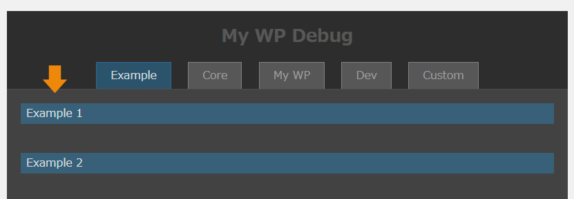 Example Debug Panel Content Title