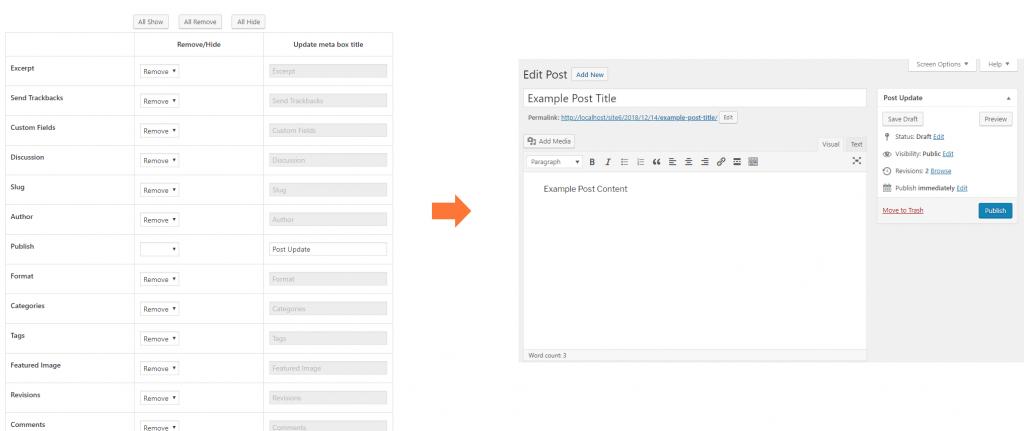 Meta boxes customize on Classic editor